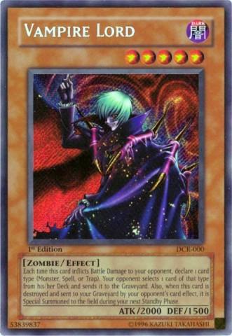 Vampire Lord - DCR-000 - Secret Rare - 1st Edition