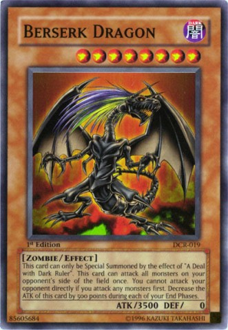 Berserk Dragon - DCR-019 - Super Rare - 1st Edition