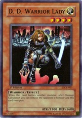 D.D. Warrior Lady - DCR-027 - Super Rare - 1st Edition