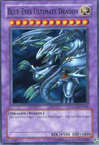 Blue-Eyes Ultimate Dragon - DLG1-EN001 - Super Rare - Unlimited Edition