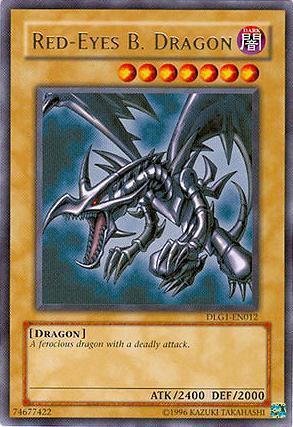 Red-Eyes B. Dragon - DLG1-EN012 - Rare - Unlimited Edition