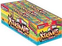 Airheads Extreme Sour Be Rainbow Berry  18ct
