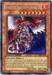 Horus The Black Flame Dragon LV8 - EEN-ENSE1 - Secret Rare - Limited Edition