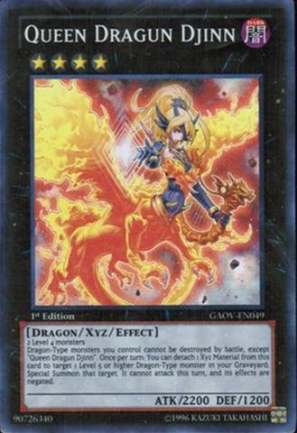 Queen Dragun Djinn - GAOV-EN049 - Super Rare - Unlimited Edition