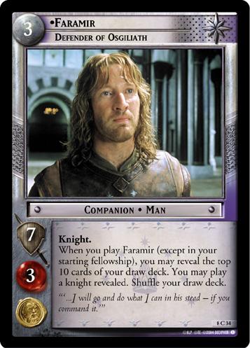 Faramir Defender Of Osgiliath Foil Lord Of The Rings Tcg