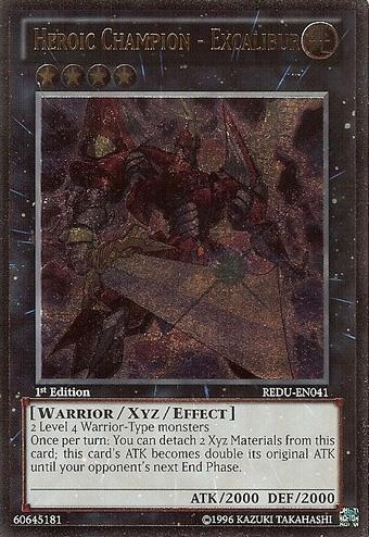 Heroic Champion - Excalibur - REDU-EN041 - Ultimate Rare - 1st Edition