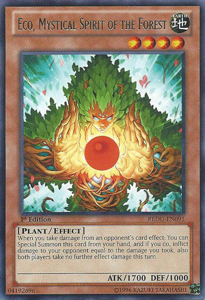 Eco, Mystical Spirit of the Forest - REDU-EN091 - Rare - 1st Edition