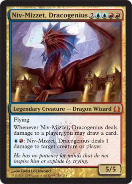 Niv-Mizzet, Dracogenius - Foil
