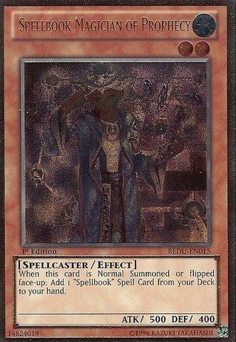 Spellbook Magician of Prophecy - REDU-EN015 - Ultimate Rare - Unlimited Edition