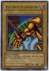 Right Arm of the Forbidden One - LOB-122 - Ultra Rare - 1st Edition