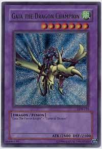 Gaia the Dragon Champion - LOB-125 - Secret Rare - 1st Edition