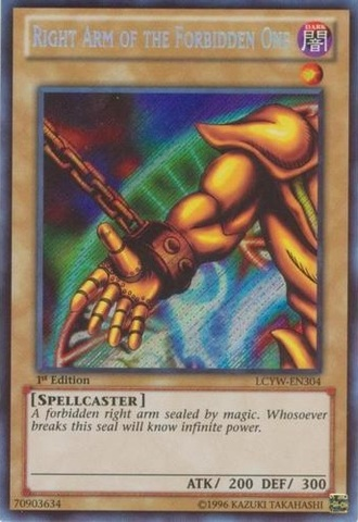 Right Arm of the Forbidden One - LCYW-EN304 - Secret Rare - 1st Edition