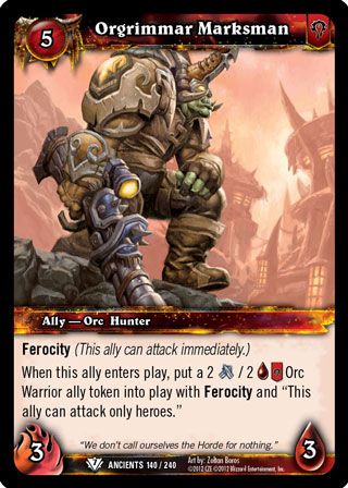 WOW WARCRAFT TCG WAR OF THE ANCIENTS RHONIN THE TIME-LOST X 4