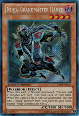 Ninja Grandmaster Hanzo - CT09-EN003 - Secret Rare - Limited Edition on Channel Fireball