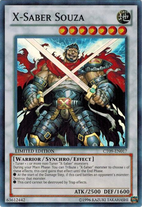 X-Saber Souza - CT09-EN017 - Super Rare - Limited Edition - Promo