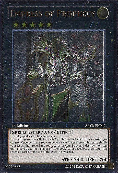 Empress of Prophecy - ABYR-EN047 - Ultimate Rare - 1st Edition