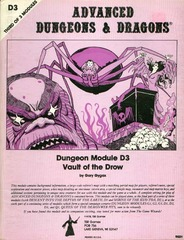 AD&D D3 - Vault of the Drow 9021 (1978 cover)