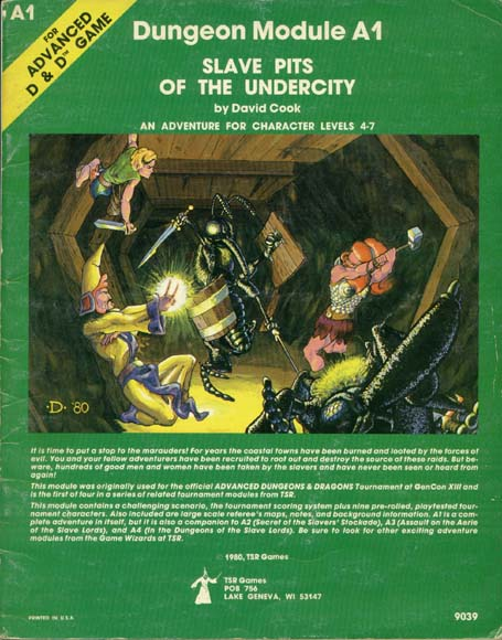 AD&D A1 - Slave Pits of the Undercity 9039