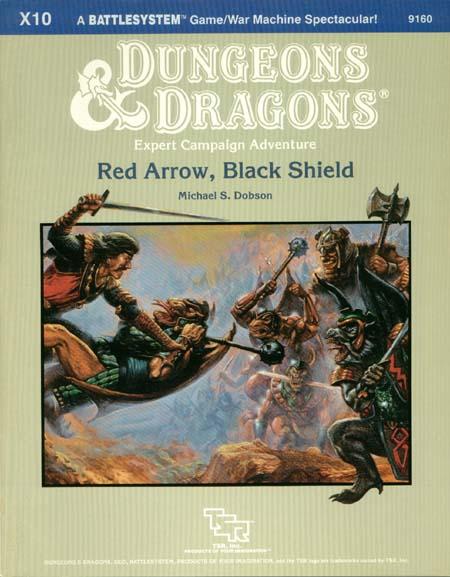 D&D X10 - Red Arrow, Black Shield - 9160