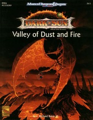 AD&D 2E Dark Sun Valley of Dust and Fire SC 2413