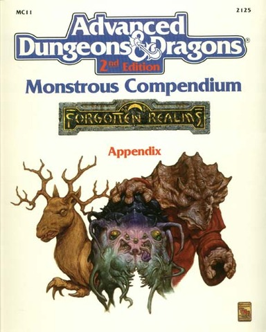 AD&D Forgotten Realms Monstrous Compendium Appendix - RPG