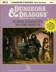 D&D AC6 - Player Character Record Sheets 9037