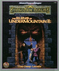 AD&D(2e) - The Ruins of Undermountain II The Deep Levels 1104 Box Set