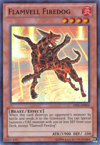 Flamvell Firedog - AP01-EN004 - Super Rare - Unlimited Edition
