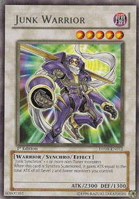 Junk Warrior - DP08-EN012 - Rare - Unlimited Edition