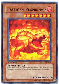 Firestorm Prominence - STON-EN026 - Common - 1st Edition