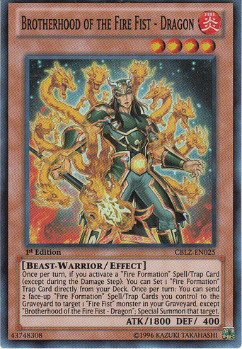 Brotherhood of the Fire Fist - Dragon - CBLZ-EN025 - Super Rare - 1st Edition