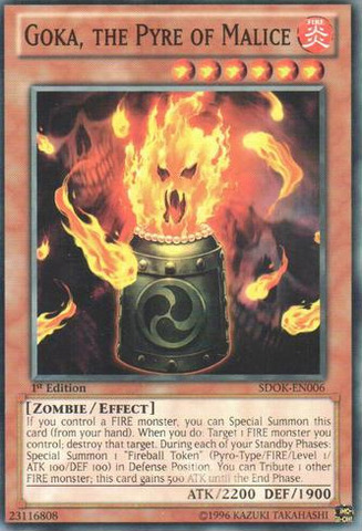 Goka, the Pyre of Malice - SDOK-EN006 - Common - 1st Edition