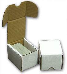 Card Storage Box, 100-count corrugated cardboard