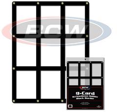 9 Card Screwdown Holder - Black Border
