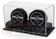 Deluxe Acrylic Double Hockey Puck Display