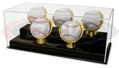 Deluxe Acrylic Five Gold Glove Baseball Display - Acrylic Base
