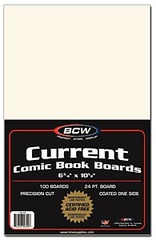 Current Comic Book Backing Boards - Pack of 100