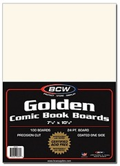 Golden Comic Book Backing Boards - 7 1/2 x 10 1/2 - Pack of 100