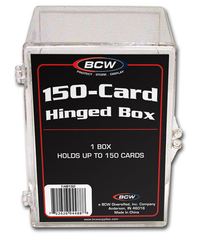a16bf4e7452 BCW Hinged Box - 150 Count - BCW Supplies » BCW Card Supplies » Card Cases  - Sharp Brothers Gaming