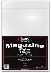 Magazine Bags Mylar Bags 4 Mil - 9 x 11 1/2 - Pack of 25