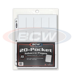 BCW Pro 20-Pocket Tobacco Pages - Pack of 20