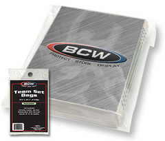 BCW Resealable Team Set Bags - 3 3/8 X 4 1/4 - Pack of 100