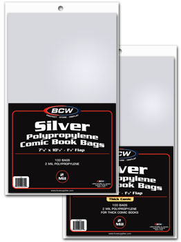 BCW Silver Comic Book Bags - 7 1/8 x 10 1/2 - Pack of 100
