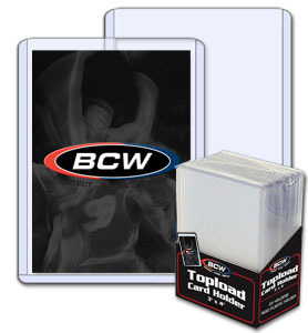BCW 3 X 4 Topload Card Holder - Standard 12 Mil - Pack of 25