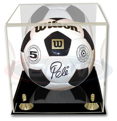 BCW Deluxe Soccer/Volley Ball Display - with Mirror Back - 1-AD22
