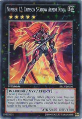 Number 12: Crimson Shadow Armor Ninja - SP13-EN030 - Starfoil Rare - Unlimited Edition