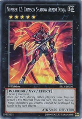 Number 12: Crimson Shadow Armor Ninja - SP13-EN030 - Common - 1st Edition