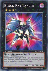 Black Ray Lancer - SP13-EN029 - Starfoil Rare - 1st Edition on Channel Fireball