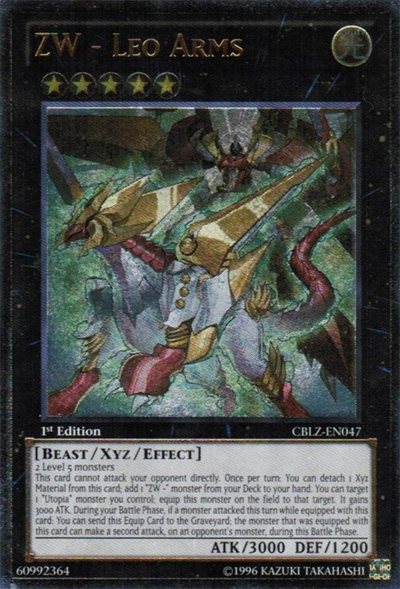 ZW - Leo Arms - CBLZ-EN047 - Ultimate Rare - Unlimited Edition