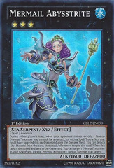 Mermail Abysstrite - CBLZ-EN050 - Super Rare - Unlimited Edition